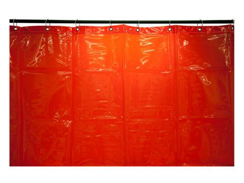WELDING CURTAIN 1.8x3.4M RED WELDCLASS