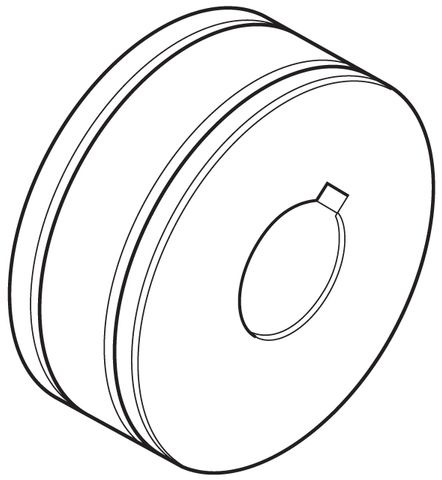MIG Drive Rollers - OD30 x ID10 x W10mm (Keyed Centre) - Suit 180MST/200MST