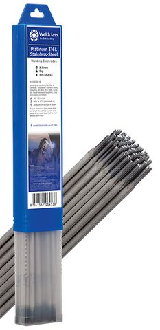 ELECTRODES STAINLESS-STEEL PLATINUM 316L 3.2MM 1KG WELDCLASS