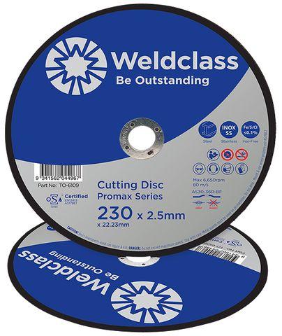 CUTTING DISC PROMAX INOX STD 230x2.8MM DPC WELDCLASS