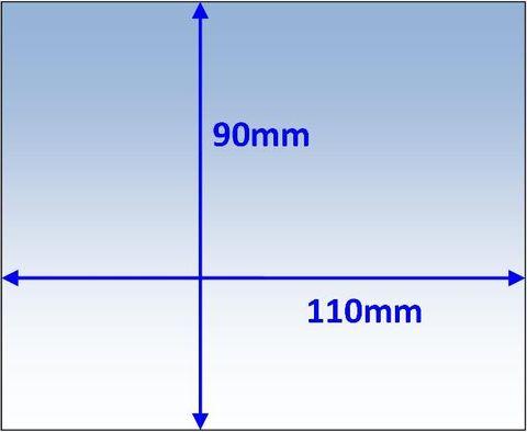 LENS CLEAR 110x90x1.0MM SUIT VARIOUS PK10 WELDCLASS