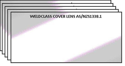 LENS CLEAR 108x51MM CR39 STYLE CARDED PK5 WELDCLASS
