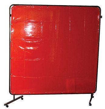 FRAME + CURTAIN KIT 1.8x1.8M STD RED WELDCLASS
