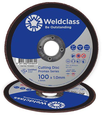 CUTTING DISC PROMAX INOX THIN 100x1.0MM WELDCLASS
