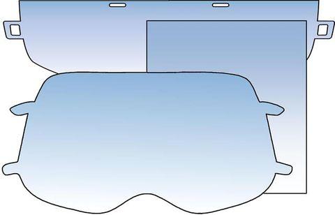 Clear Lenses for Auto Helmets - Grinding Visor Lenses
