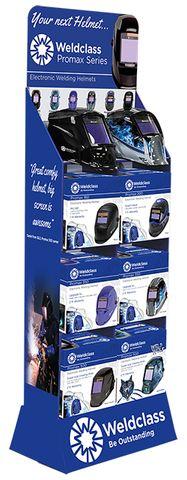 Display Stand for Welding Helmets (Cardboard)
