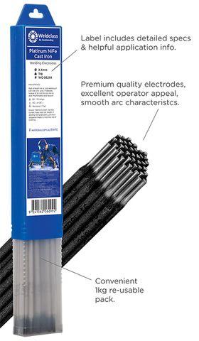 Electrodes - Cast Iron PLATINUM NiFe