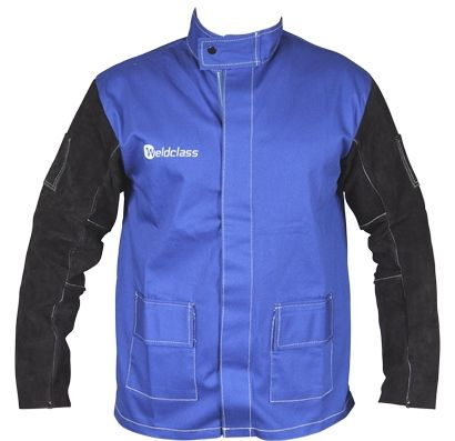 Jackets - PROMAX BLUE FR with Leather Sleeves