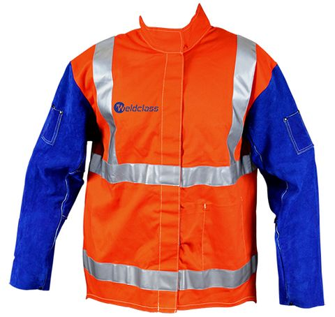 Jackets - PROMAX HV2 FR Hi-Vis with Leather Sleeves + Harness Flap
