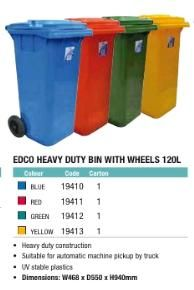 Wheelie Bin 120 Ltr YELLOW
