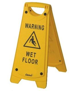 A Frame WET FLOOR Sign *with non slip rubbers*
