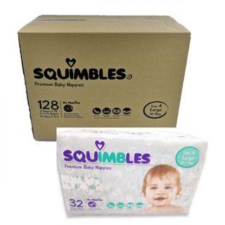 Nappy Squimbles Large 128/ctn  10kg - 15kg