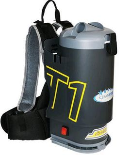 GHIBKLI Back Pack Vacuum T1v3 Black with clear lid