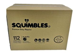 Nappy Squimbles Extra Extra Large 112/ctn  16kg +