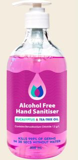500ml Hand Sanitiser Pump Pack ALCOHOL FREE
