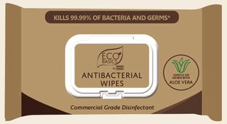 ECO Basics Antibacterial Wipes PKT 80 20x15cm Wipe