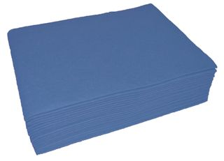 Heavy duty cloth wipes Blue   30x40cm  PKT of 20
