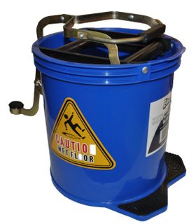 Mop Bucket 16 ltr METAL Wringer  BLUE