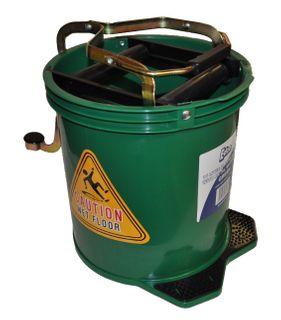 Mop Bucket 16 ltr PLASTIC Wringer  GREEN