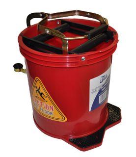 Mop Bucket 16 ltr PLASTIC Wringer  RED