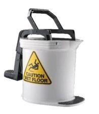 Mop Bucket 16 ltr PLASTIC Wringer  WHITE