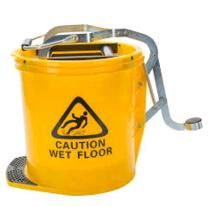 Mop Bucket 16 ltr METAL Wringer YELLOW