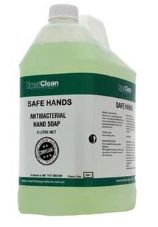 5L LIQUID Safe Hands Antibacterial Hand Soap