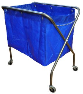 Metal frame scissor trolley with bag