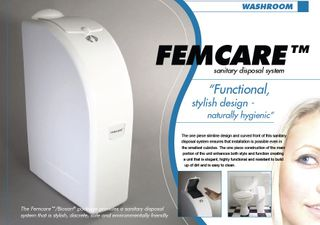 Femcare Bin Auto White with Plastic Insert. REQ 4 x C