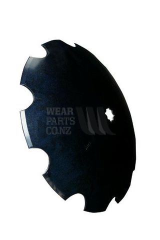"""26"""" Scalloped Disc Blade - 1 1/2"""" & 40mm axle - 8mm Thick (heavy duty)"""