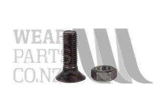 Csk Plough Bolt/Nut M11x35 Gr8.8