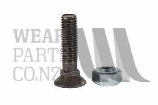 Csk Plough Bolt/Nut M12x35 Gr10.9