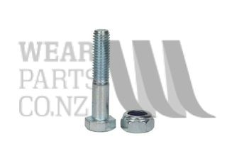 M10x60 Bolt/Nyloc Nut