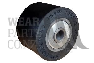 Roller 90mm Rubber Roller without flange