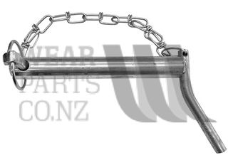 cat 2 Linkage Pin with Handle, Diameter 28.6mm, Length 125mm.