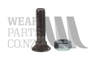 Csk Plough Bolt/Nut M12x50 Gr10.9