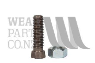 Double Flat Plough Bolt/Nut M12x45 Gr 12.9