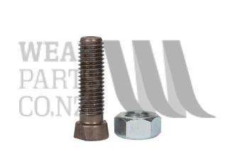 Double Flat Plough Bolt/Nut M12x50 Gr 12.9
