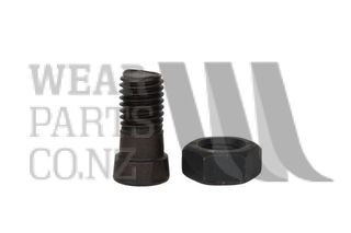 Double Flat Plough Bolt/Nut M12x34 Gr 12.9