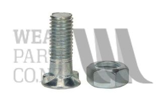 Double Nib Plough Bolt/Nut M10x35 Gr8.8