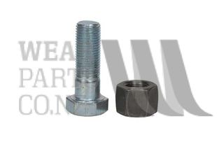 Rotary Hoe Bolt/Nyloc Nut 5/8 UNFx1 3/4