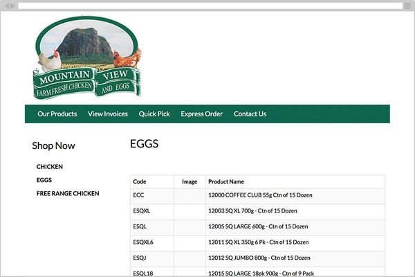 Mountain View Poultry (B2B Online Ordering)