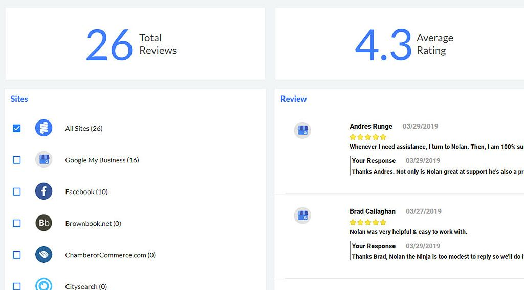 REVIEW'S IN ONE PLACE