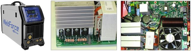 inverter welder with input voltage protection for operating of generator power