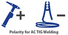 polarity of AC TIG welding of aluminium