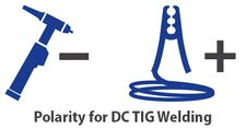 polarity for DC tig welding of steel and stainless-steel