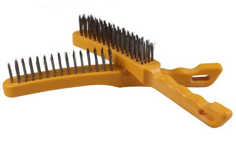 Hand Brushes - 4-Row Plastic Handle