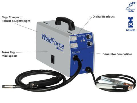 MIG Welder (Gasless) - WELDFORCE WF-141GL