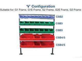 SHELVING - G2V - 5 TRAYS - 990L
