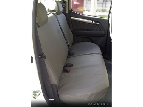 SEAT COVERS CANVAS - REAR BENCH - SPLIT
